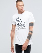 Solid Marl Crew Neck T-shirt With Graphic Print