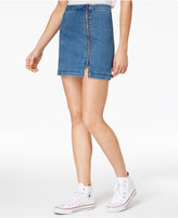 Zip Front Denim Skirt - ShopStyle