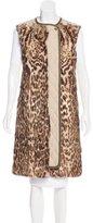 Chloé Fur-Trimmed Quilted Vest
