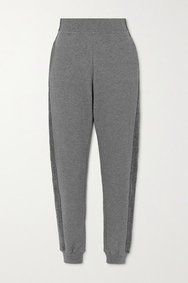 Vaara Amie Paneled Organic Cotton-jersey Track Pants - Gray