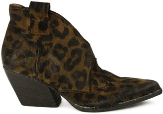 Elena Iachi Texan Leopard Ankle Boots