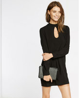 Express teardrop cut-out shift dress