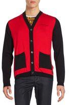Versace Colorblock Cotton Cardigan