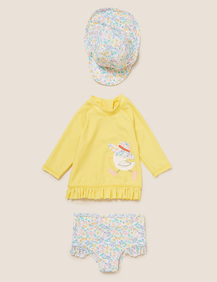 Marks and Spencer 3pc Duck Swim Set (0-3 Yrs)