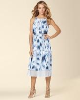 Soma Intimates Ivy and Blu Sleeveless Midi Printed Dress