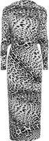 Norma Kamali The All In One printed stretch-jersey dress
