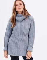 Rusty Heckle High Neck Knit Jumper