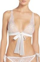 Fleur of England Women's Tie Front Triangle Bralette