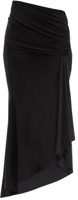 Alexandre Vauthier Dip-hem Gathered Jersey Skirt - Black