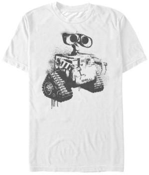 Disney Pixar Men's Wall-e Spray Paint Sketch, Short Sleeve T-Shirt