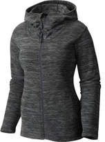 Mountain Hardwear Women's Snowpass Fleece Full-Zip Hoody - Heather Black Jackets