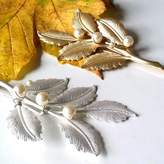 LaBelle Epoque Gold Or Silver Leaf Hair Pins