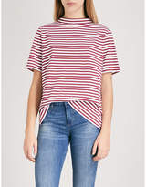 MiH Jeans Penny striped cotton-jersey top