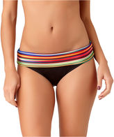 A.N.A a.n.a Mix & Match Striped Ombre Foldover Hipster Swim Bottoms