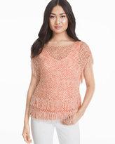White House Black Market Fringe Pullover Sweater