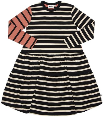 Molo Striped Organic Cotton Dress