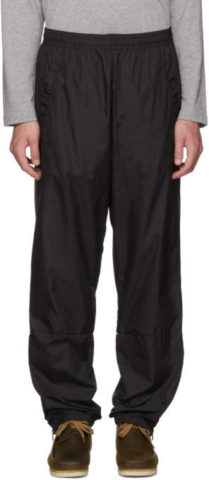 Acne Studios Black Nylon Face Lounge Pants