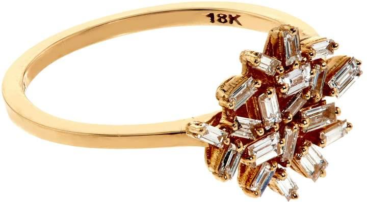 Suzanne Kalan Baguette White Diamond Firework Ring