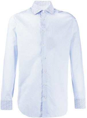 Etro Long-Sleeved Micro-Print Shirt