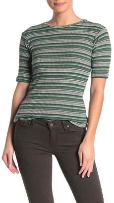 Elan International Striped Knit T-Shirt