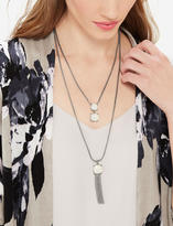 The Limited Convertible Gem & Tassel Necklace