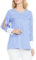 Vince Camuto Women's Colorblock Stripe Slit Sleeve Shirt