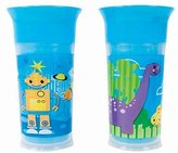 Sassy 9oz. Insulated Grow Up Cup - 2 Pack, Robot and Dinosaurs by