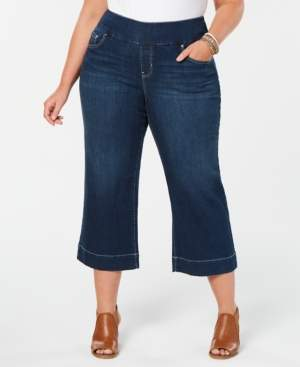 Style&Co. Style & Co Plus Size Wide-Leg Capri Jeans, Created for Macy's