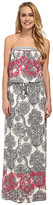Hale Bob Haute Boheme Tube Top Maxi Dress
