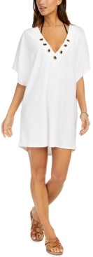 Michael Kors Michael Grommet Tunic Swim Cover-Up Women's Swimsuit