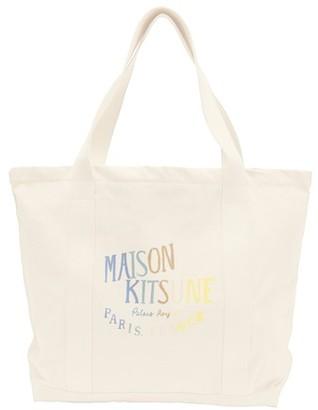 MAISON KITSUNÉ Rainbow Palais Royal shopping bag
