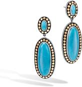 John Hardy Women's Dot Drop Earring in Sterling Silver and 18K Gold, Black Onyx