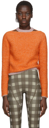 Eckhaus Latta Orange Clavicle Sweater