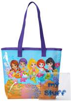 Girls 4-16 Splashlings Clear-Back Beach Tote with Wet/Dry Pouch