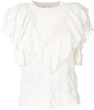 Nk Ruffled Knitted Blouse