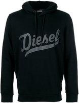 Diesel printed logo hoodie