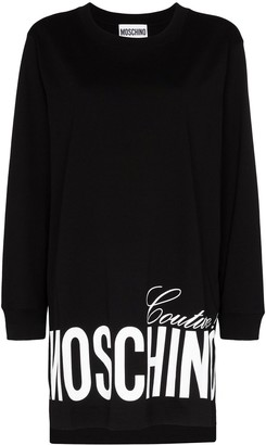 Moschino oversized logo-print sweatshirt dress