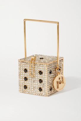 Rosantica Smorfia Micro Crystal-embellished Gold-tone Shoulder Bag - Silver