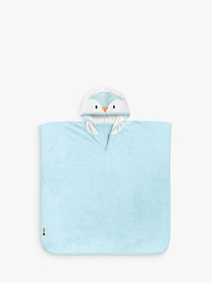Tommee Tippee Splashtime Percy Penguin Hooded Poncho Towel, 2-4 years, Blue