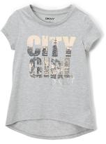 DKNY Heather Gray 'City Girl' Cityscape Tee - Girls
