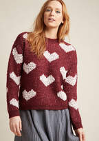 Compania Fantastica Heart Times Sweater in L - Long Pullover Waist by Compania Fantastica from ModCloth