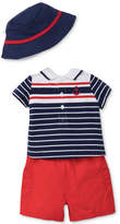 Little Me 3-Pc. Cotton Polo Shirt, Shorts & Hat Set, Baby Boys