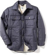 Old Navy Quilted Sherpa-Lined Shirt-Jacket for Boys
