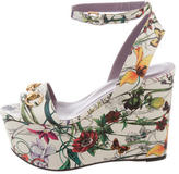 Gucci Flora Horsebit Wedges