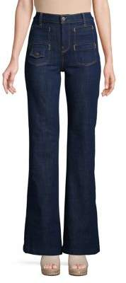 7 For All Mankind High-Rise Wide-Leg Jeans