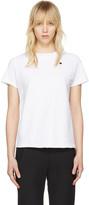 Champion Reverse Weave White Small Logo T-Shirt