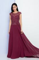 Terani Couture 1723M4638 Embellished Illusion Bateau A-line Dress