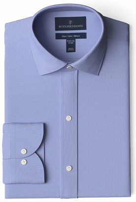 Buttoned Down Men's Slim Fit Non-Iron Shirt with Kent Collar