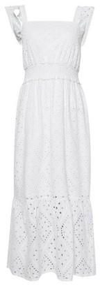 Dorothy Perkins Womens White Broderie Midi Skater Dress, White