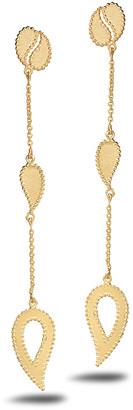 Coomi Affinity 20k Double-Paisley Drop Earrings
